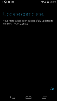 Android 4.4.2 for UK Motorola G