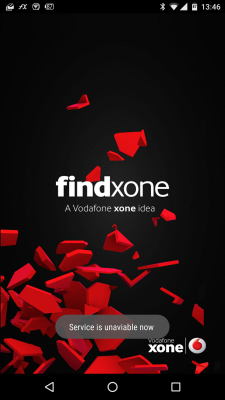 VodafoneFindxone-Error