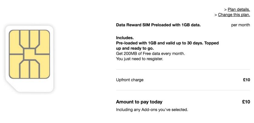 Three Data SIM
