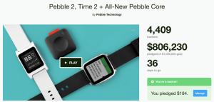 Pebble Kickstarter