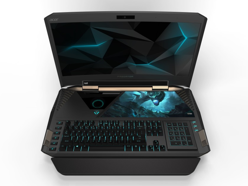 Predator 21 X gaming laptop with curved display and eye-tracking