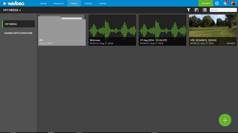 WeVideo Chrome OS