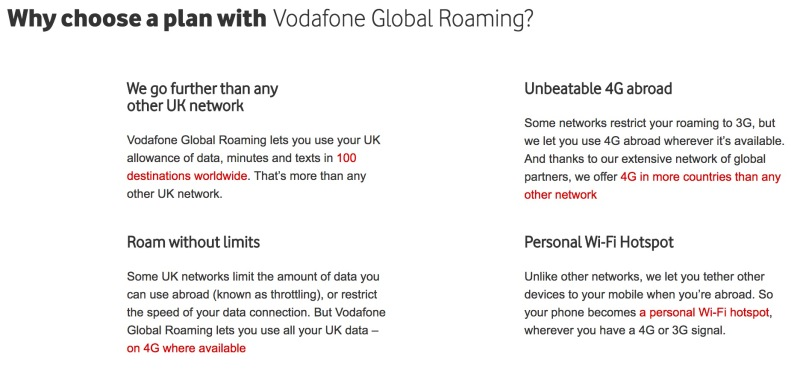 Vodafone explains its benefits
